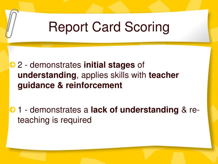 Report Card Scoring