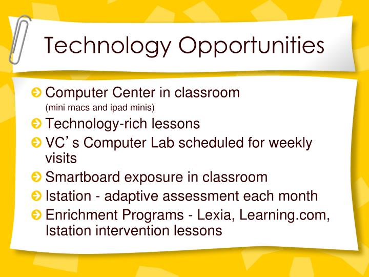 Technology Opportunities