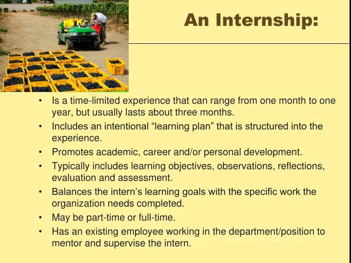 An Internship:
