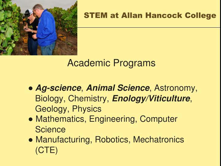 STEM at Allan Hancock College