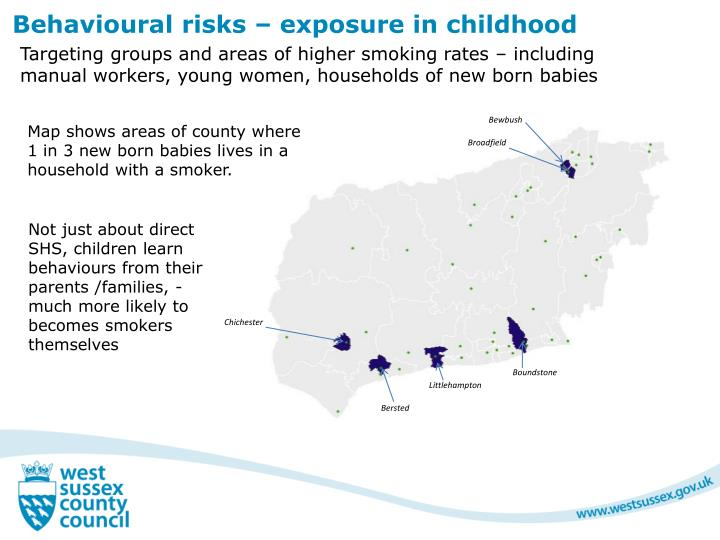 Behavioural risks – exposure in childhood