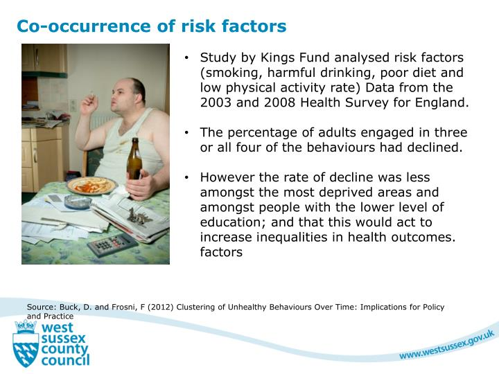 Co-occurrence of risk factors
