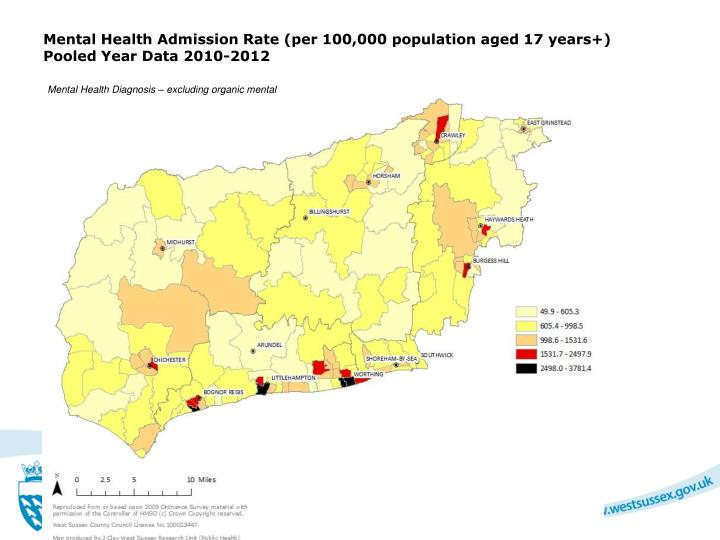Mental Health Admission Rate (per 100,000 population aged 17 years+)