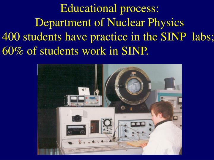 Educational process: