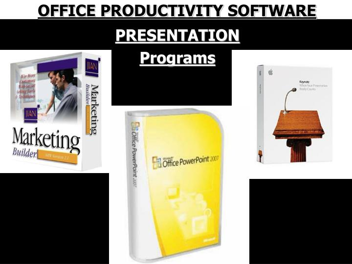 OFFICE PRODUCTIVITY SOFTWARE
