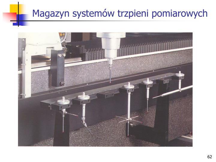 Magazyn systemów trzpieni pomiarowych