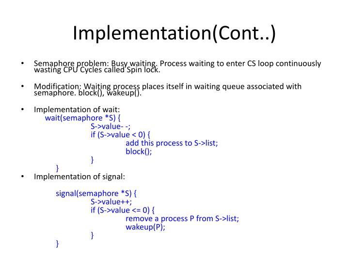 Implementation(Cont..)