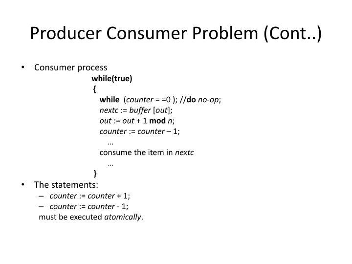 Producer Consumer Problem (Cont..)