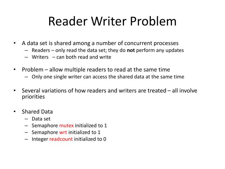 Reader Writer Problem