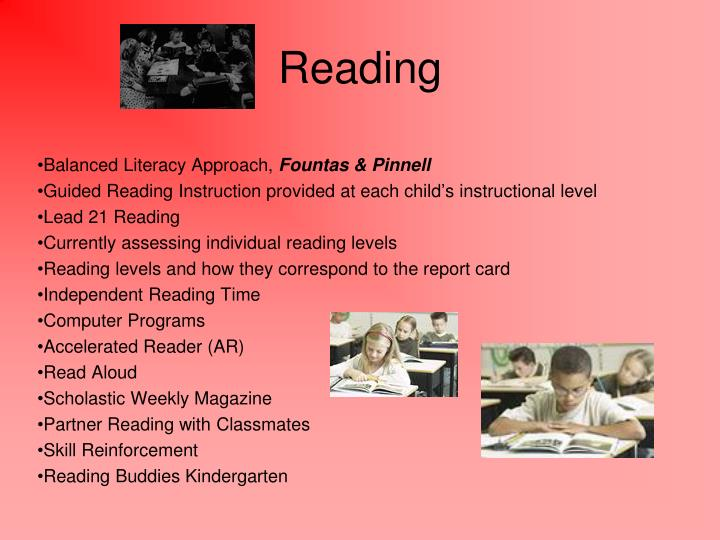 Balanced Literacy Approach,