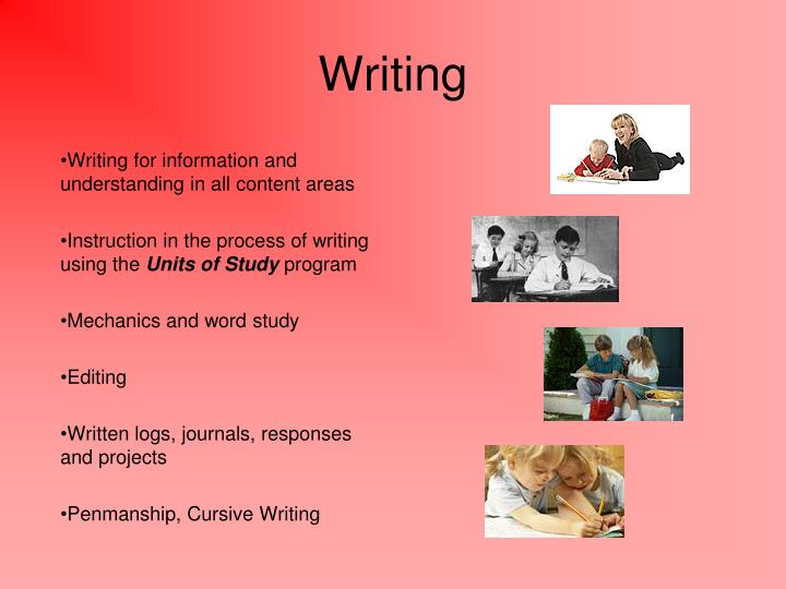 Writing for information and understanding in all content areas