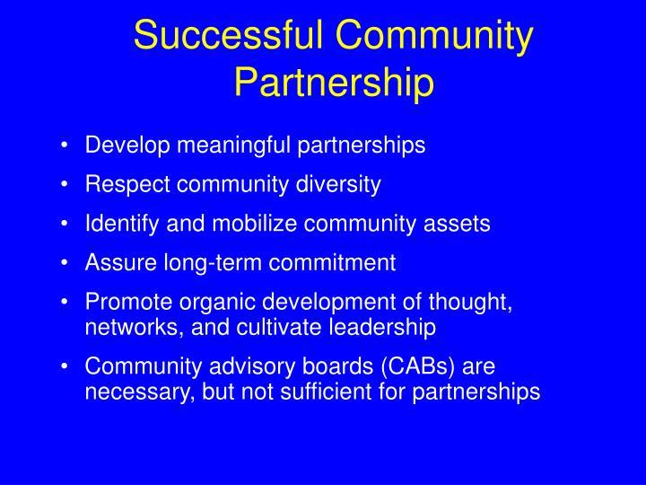 Successful Community Partnership