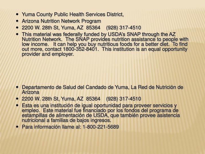 Yuma County Public Health Services District,