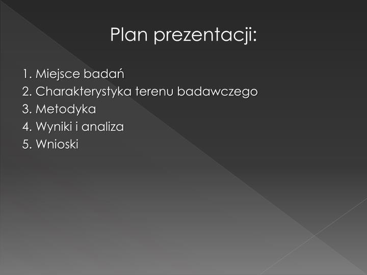 Plan prezentacji: