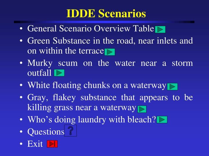 IDDE Scenarios