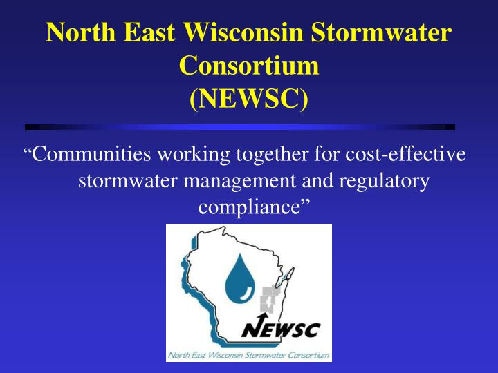 North East Wisconsin Stormwater Consortium