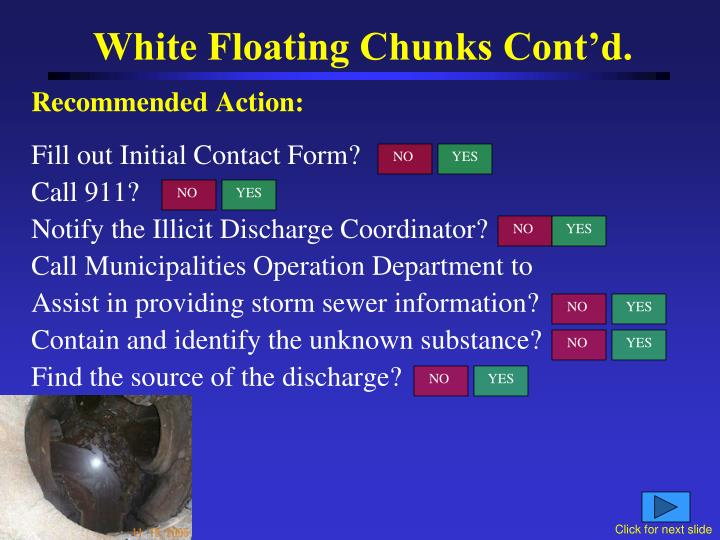 White Floating Chunks Cont'd.