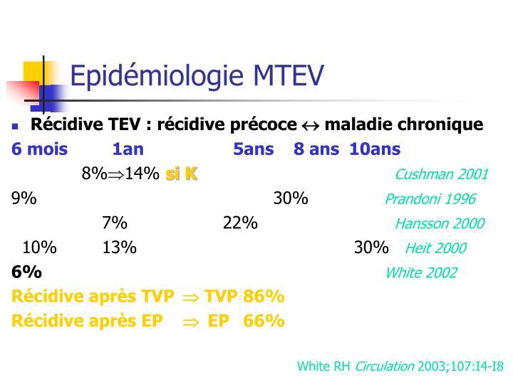 Epidémiologie MTEV