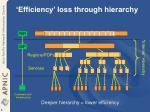efficiency loss through hierarchy