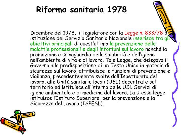 Riforma sanitaria 1978