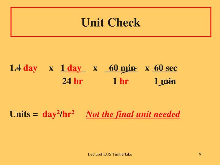 Unit Check