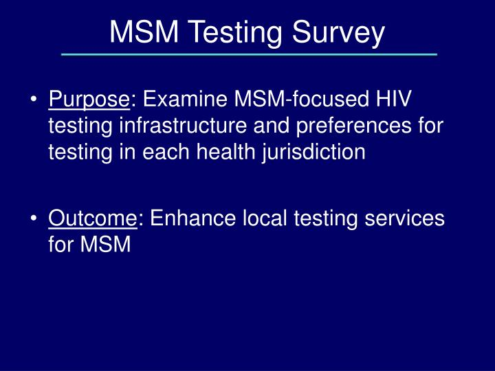 MSM Testing Survey