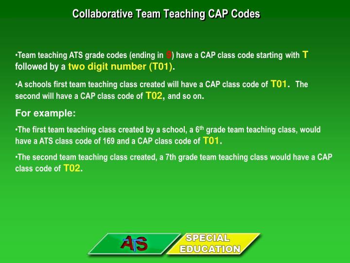 Collaborative Team Teaching CAP Codes