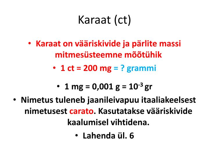 Karaat (