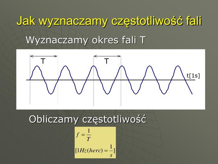Jak wyznaczamy częstotliwość fali