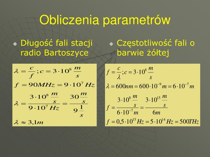 Długość fali stacji radio Bartoszyce