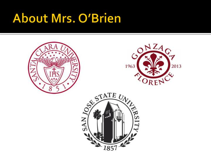 About mrs o brien