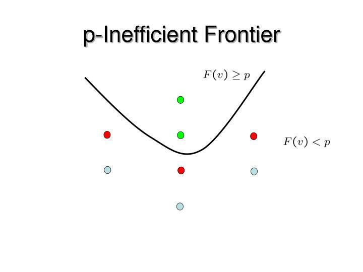 p-Inefficient Frontier