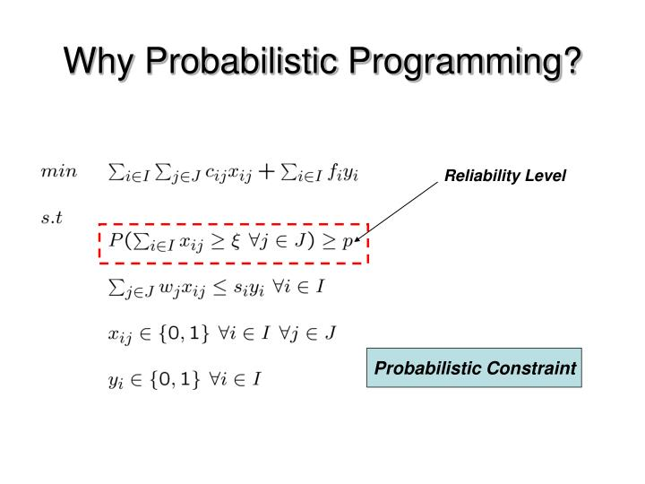 Why Probabilistic Programming?