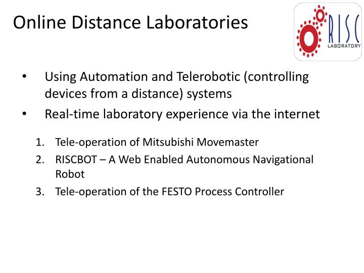 Online Distance Laboratories