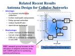 related recent results antenna design for cellular networks