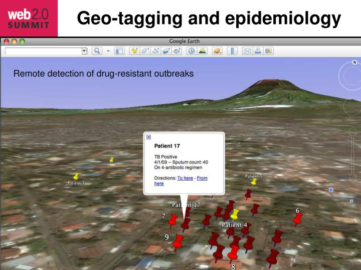 Geo-tagging and epidemiology