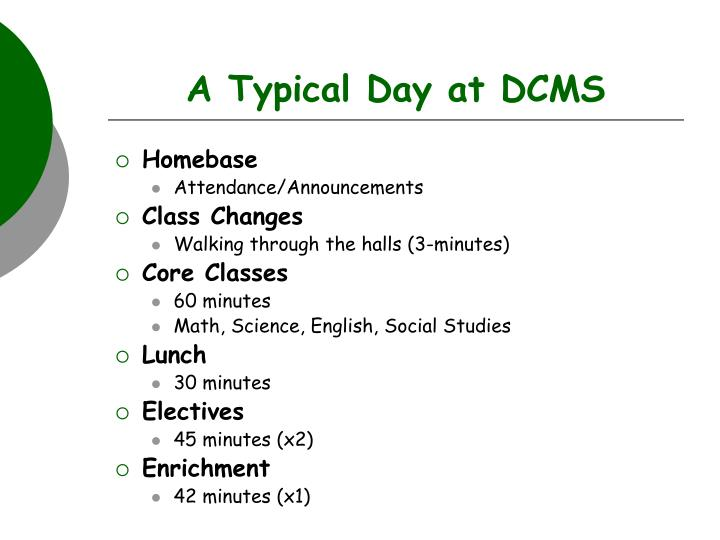 A Typical Day at DCMS