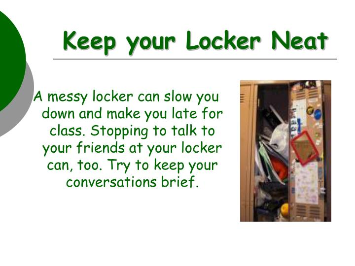 Keep your Locker Neat