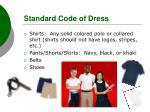 standard code of dress