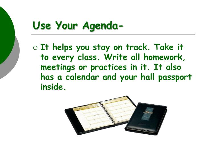 Use Your Agenda-