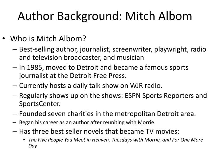 Author background mitch albom
