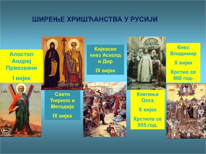 ШИРЕЊЕ ХРИШЋАНСТВА У РУСИЈИ
