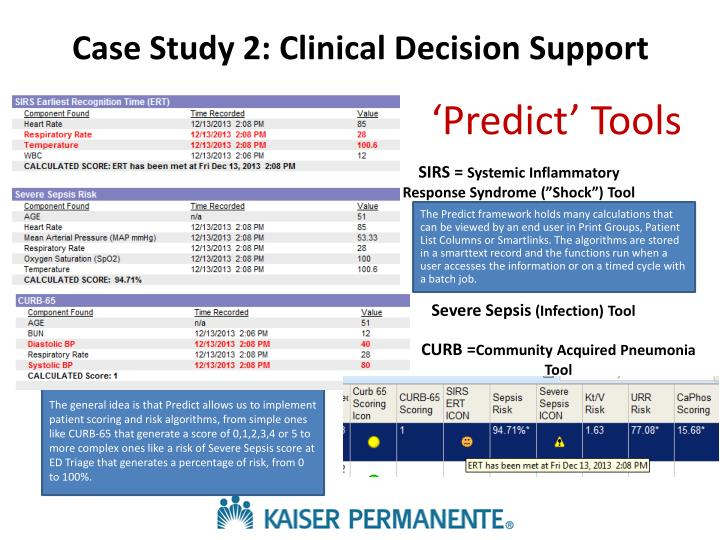 Case Study 2: Clinical Decision Support