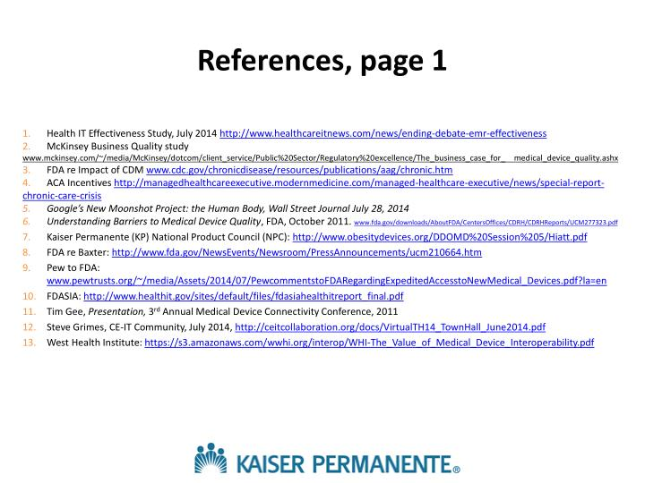 References, page 1