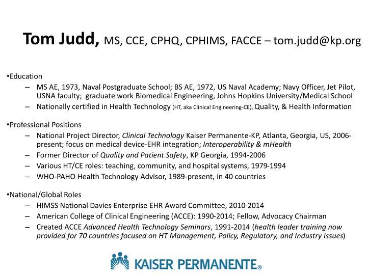 Tom Judd,