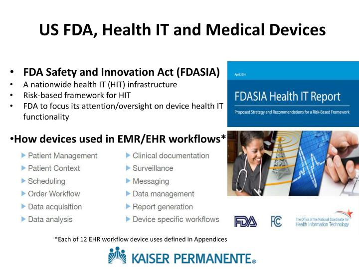 US FDA, Health IT and Medical Devices
