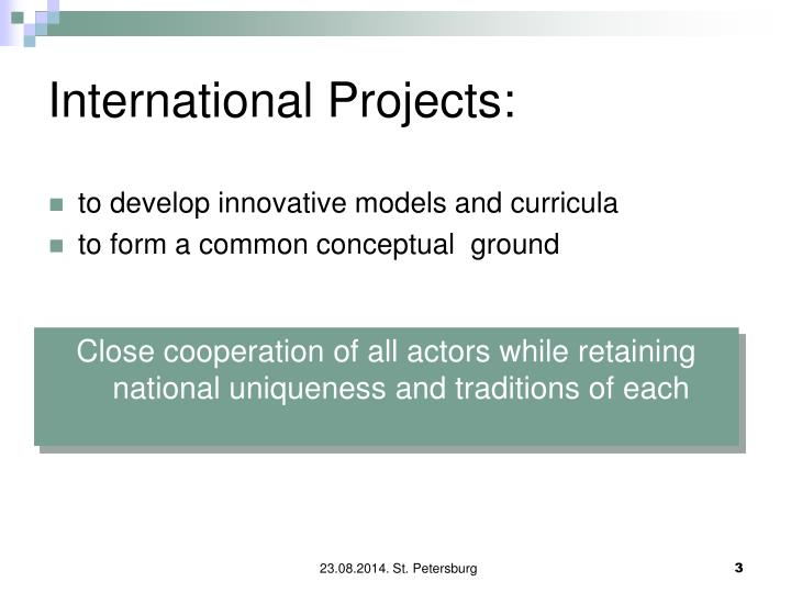 to develop innovative models and curricula