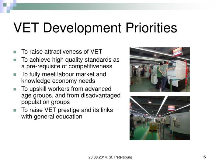 VET Development Priorities