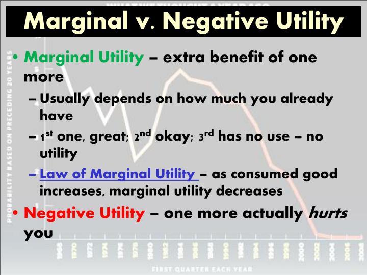 Marginal v. Negative Utility