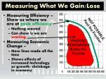 measuring what we gain lose1